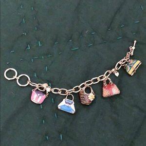 Super cute purse charm bracelet